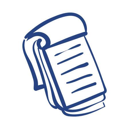 notebook school supply free form style vector illustration design 向量圖像