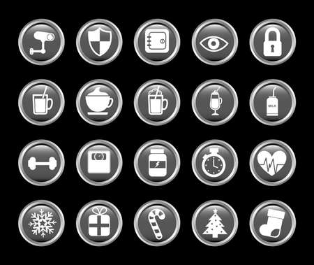 Icon set pack, High Quality variety symbols for all purposes Vector illustration
