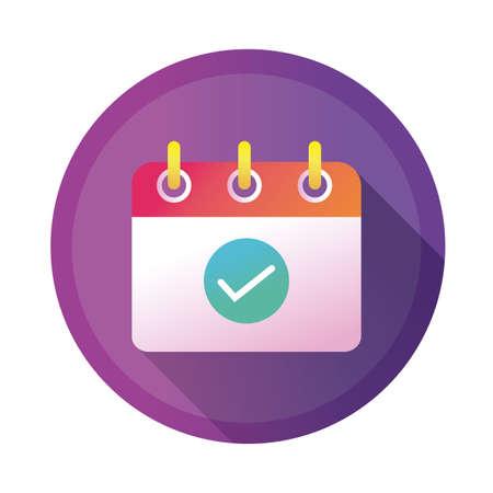 calendar reminder detailed style icon vector illustration design