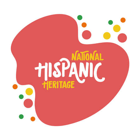 national hispanic heritage lettering flat style vector illustration design