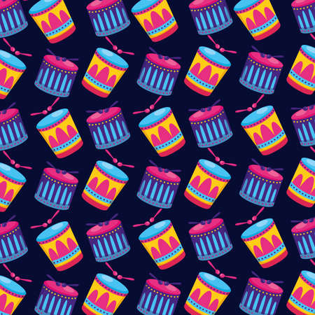 carnival drums sticks background vector illustration design Illusztráció