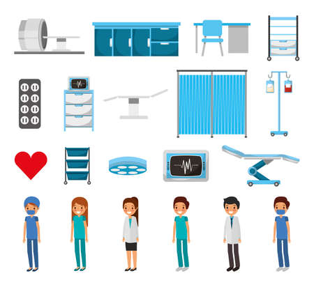 Medical icon set design, Hospital health care emergency aid clinic and medication Vector illustration 版權商用圖片 - 157325216