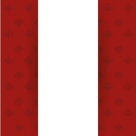 Canadian flag with maple leaves design, Happy canada day holiday and national theme Vector illustration