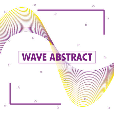 wave abstract with lettering in white background vector illustration design