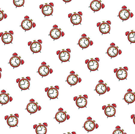 alarms clocks wake up pattern pop art style vector illustration design