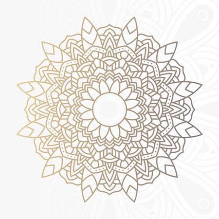 decorative floral mandala with white background vector illustration design 向量圖像