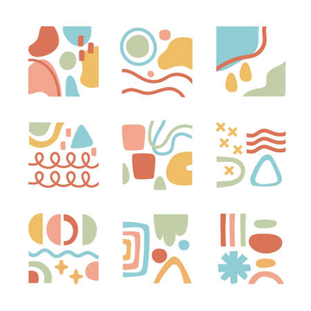 bundle of contemporary arts works set icons vector illustration design