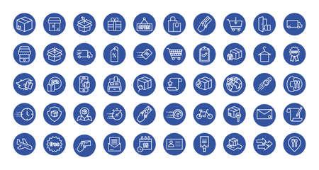 bundle of delivery set icons vector illustration design