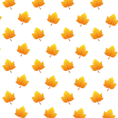 autumn leafs foliage seasonal pattern vector illustration design Illusztráció
