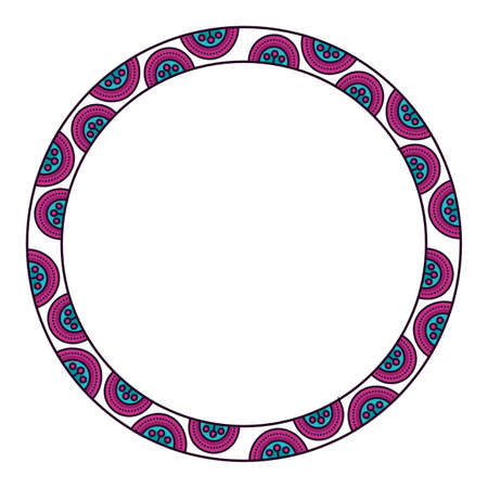 Mandale circle design, Abstract ornament art decoration style and effect theme Vector illustration