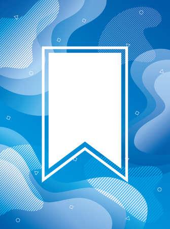 blue vibrant colors background with tape frame vector illustration design