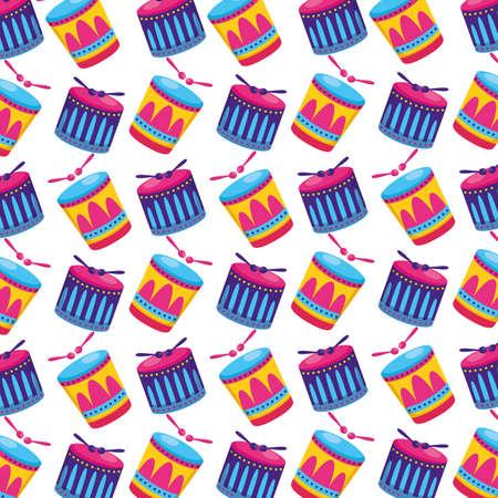 carnival drums sticks background vector illustration design Ilustracja