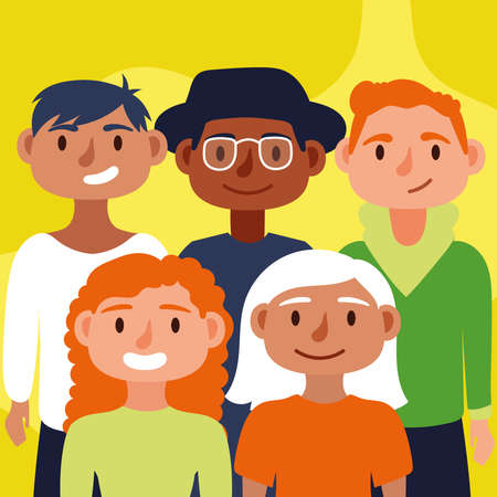 crowd of people together Inclusion concept vector illustration design