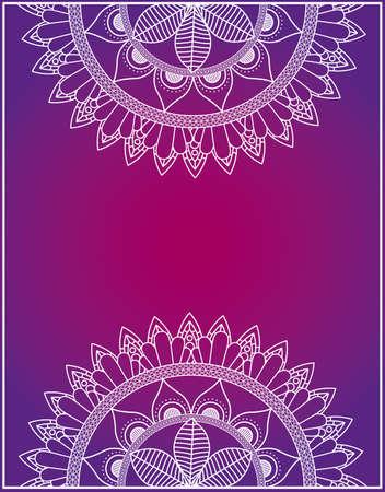 halfs mandalas with fuchsia color background vector illustration design