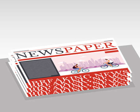 news paper folded communication isolated icon vector illustration design