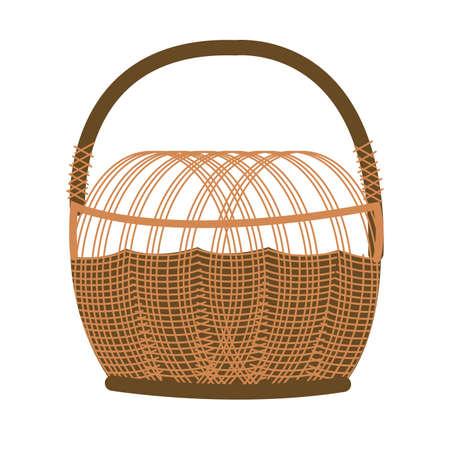 basket straw seasonal isolated icon vector illustration design