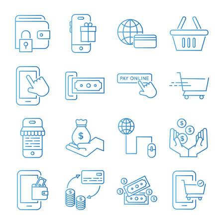 bundle of Payment online set icons vector illustration design 矢量图像