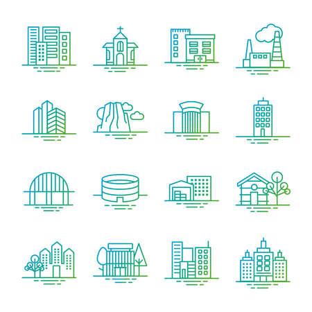 bundle of city set icons vector illustration design