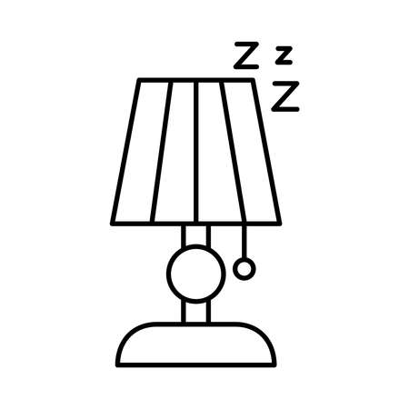 lamp with Insomnia z letters line style icon vector illustration design