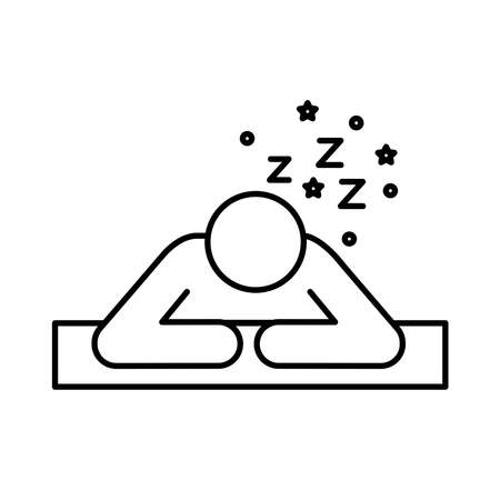 avatar figure with Insomnia z letters line style icon vector illustration design 矢量图像