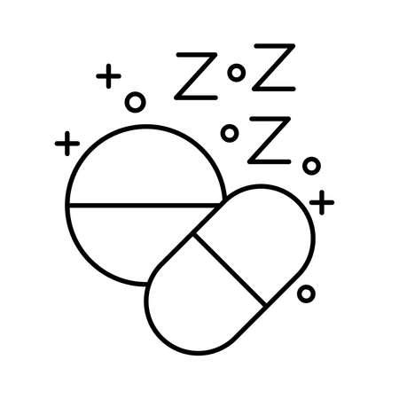 drugs Insomnia z letters line style icon vector illustration design Vettoriali
