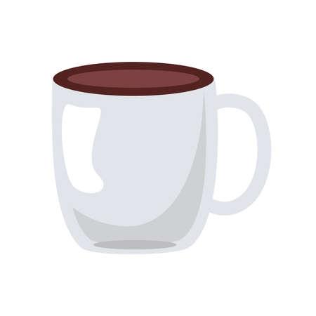 coffee ceramic cup drink icon vector illustration design