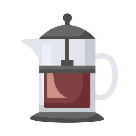 coffee shop make utensil flat style icon vector illustration design Ilustracja