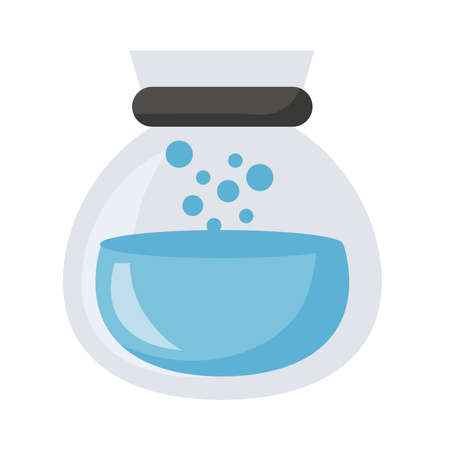 teapot glass with water icon vector illustration design