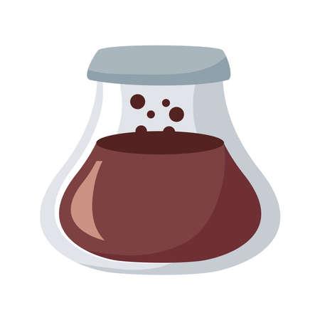 taepot with coffee drink icon vector illustration design  イラスト・ベクター素材