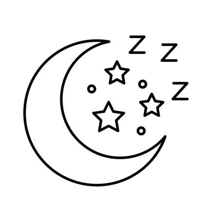 moon and stars Insomnia letters line style icon vector illustration design 矢量图像