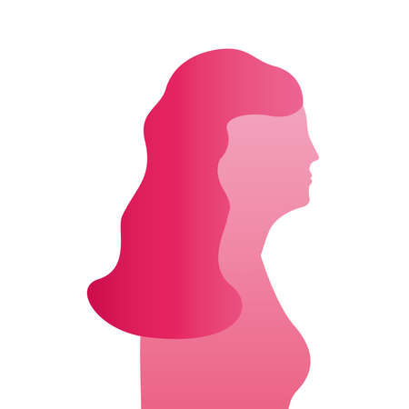 pink woman figure silhouette style icon vector illustration design