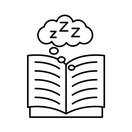 book open with Insomnia z letters line style icon vector illustration design