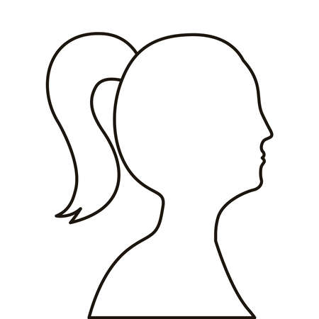 profile woman figure line style icon vector illustration design