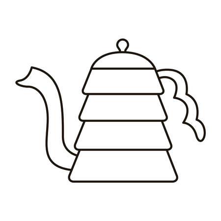 coffee kettle utensil line style icon vector illustration design