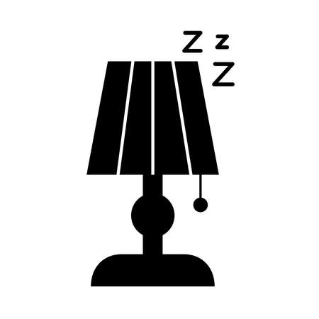 lamp with Insomnia z letters silhouette style icon vector illustration design 矢量图像