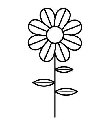 cute sunflower garden isolated icon vector illustration design