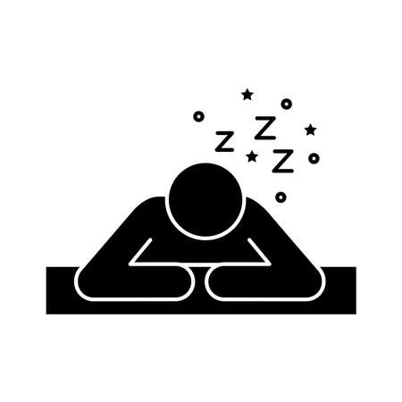 avatar figure with Insomnia z letters silhouette style icon vector illustration design