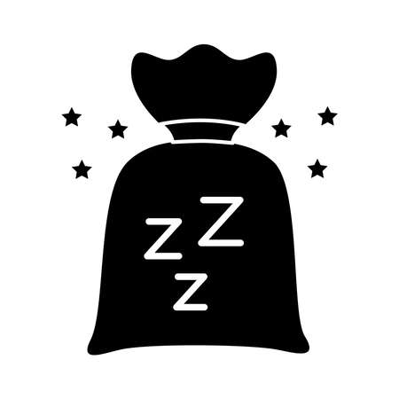 Insomnia powders bag and z letters silhouette style icon vector illustration design