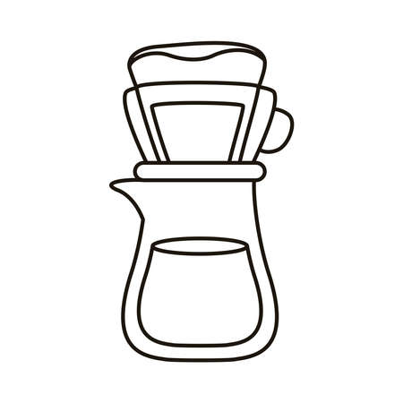 coffee shop make utensil line style icon vector illustration design