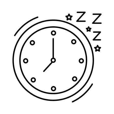 watch clock with Insomnia z letters line style icon vector illustration design