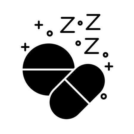 drugs Insomnia z letters silhouette style icon vector illustration design 矢量图像