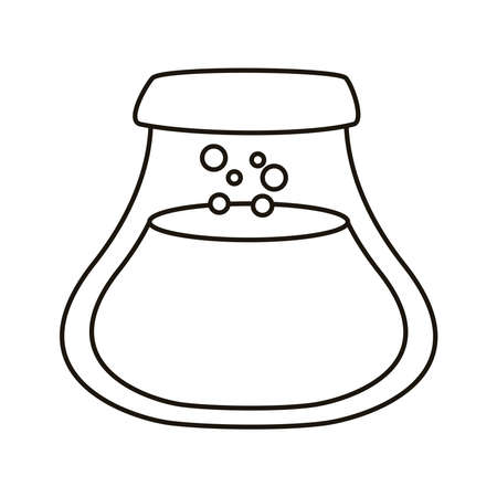 teapot with coffee drink line style icon vector illustration design