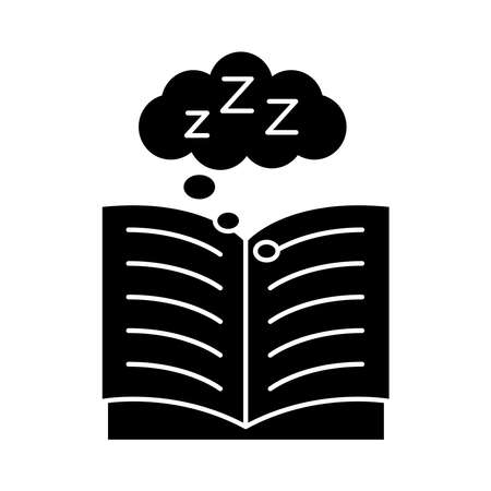 book open with Insomnia z letters silhouette style icon vector illustration design
