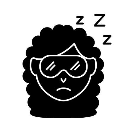 head woman with Insomnia z letters silhouette style icon vector illustration design