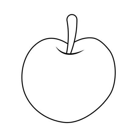 apple fresh fruit line style icon vector illustration design