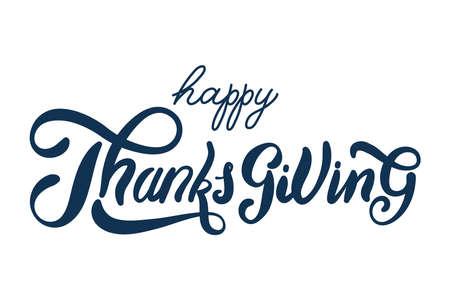 happy thanksgiving day celebration lettering vector illustration design