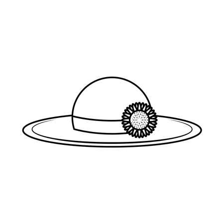 gardening hat line style icon vector illustration design