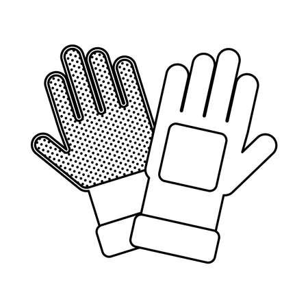 rubber gloves accessory line style vector illustration design 矢量图像