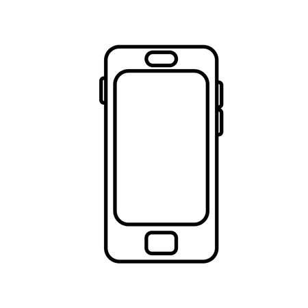smartphone device tech line style icon vector illustration design Vettoriali