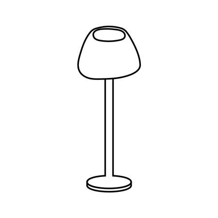 house lamp furniture isolated icon vector illustration design
